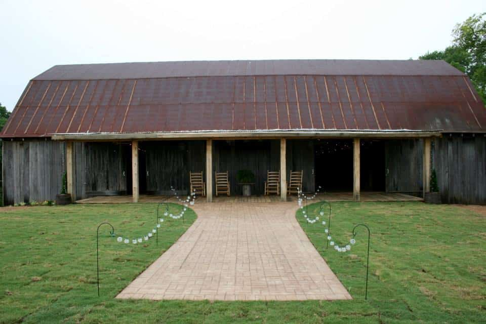 Front view of our barn